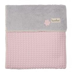 Koeka deka Oslo 100x150cm 402 baby pink/600 silver grey