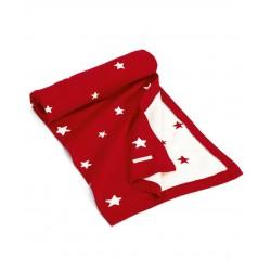 Mamas & Papas pletená deka Star Red