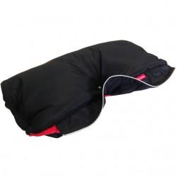 Aesthetic rukávník sport Černá hladká/Červená jahodová