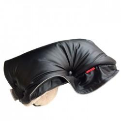 Aesthetic rukávník imitace kůže bez kožešiny 3-314 Černá/Béžová