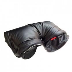 Aesthetic handwarmer leather imitation 3-319 Black/Black