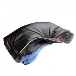 Aesthetic handwarmer leather imitation 3-337 Black/Ocean Blue