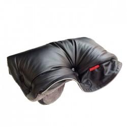 Aesthetic rukávník imitace kůže bez kožešiny 3-345 Černá/Šedá