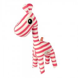 Done by Deer mazlivá hračka 3D Raffi + knížka Růžová