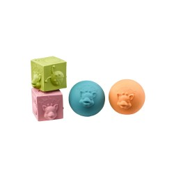 Sophie la girafe® So'Pure 2 balls and 2 cubes set