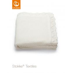 Stokke Knitted Blanket Classic White