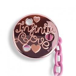 Haute Couture Suavinex klip na dudlík Zlatorůžová - růžová