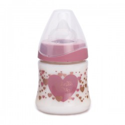 Suavinex wide nech bottle 3p silicone teat 150ml Růžový