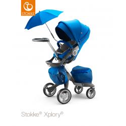 Stokke Xplory Cobalt Blue + lůžko - rozbaleno