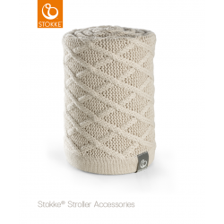 Stokke knitted blanket Cable Cream
