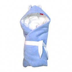 Aesthetic rychlozavinovačka s kapucí bez výplně mikroplyš 337 - modrá mořská
