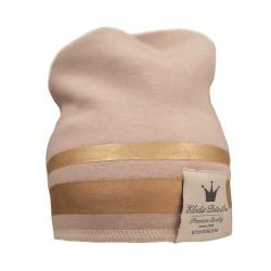 Elodie Details zimní bavlněná čepice zlatý pruh Gilded Pink 2-3r