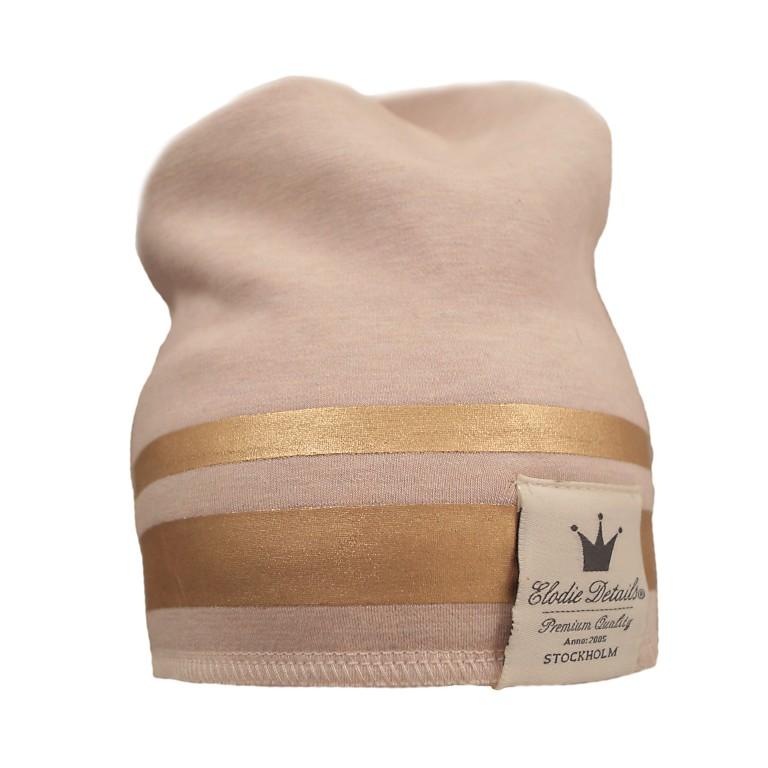 Elodie Details zimní bavlněná čepice zlatý pruh
