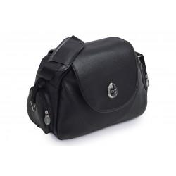 BabyStyle Egg kožená přebalovací taška Black Leather