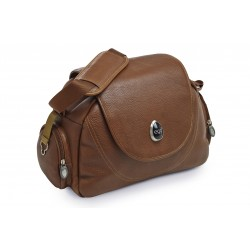 BabyStyle Egg kožená přebalovací taška Tan Leather