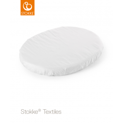 Stokke Sleepi Mini fitted sheet 80cm White