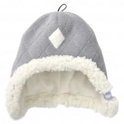 Lodger čepice Hatter Fleece Scandinavian Greige 0-3 m