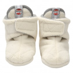Lodger Slipper Fleece Scandinavian Off-White 0-3 m