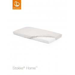 Stokke Home prostěradlo do postýlky 132x70 cm White/Beige Checks