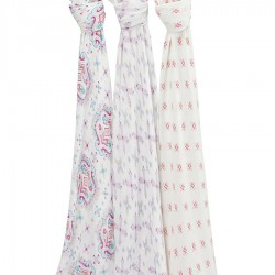 Aden + Anais Silky Soft Swaddles 3-pack Flower Child