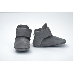 Lodger Walker Leather Dark Grey 6-12m