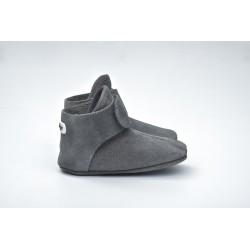 Lodger Walker Leather Dark Grey 12-15m