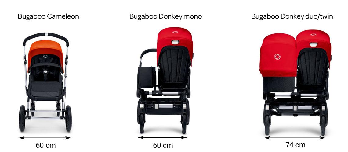 Bugaboo Donkey vs Bugaboo Cameleon šířka
